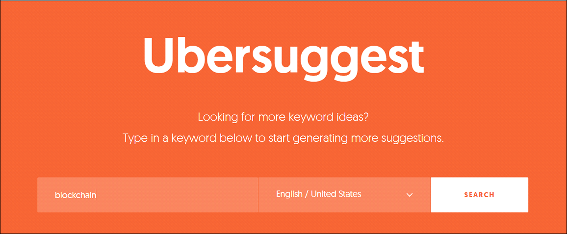 Keyword Research With Ubersuggest