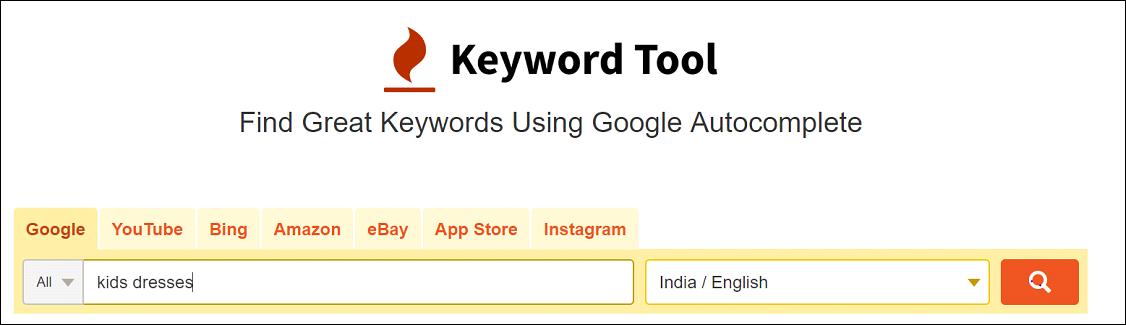 Keyword Research With KeywodTool.io
