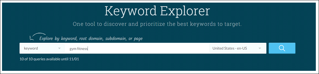 Keyword Research With Moz Keyword Analyzer