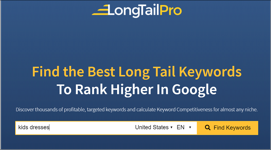Keyword Research With Long Tail Pro